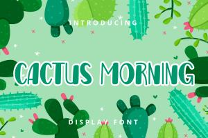 cactus morning 1